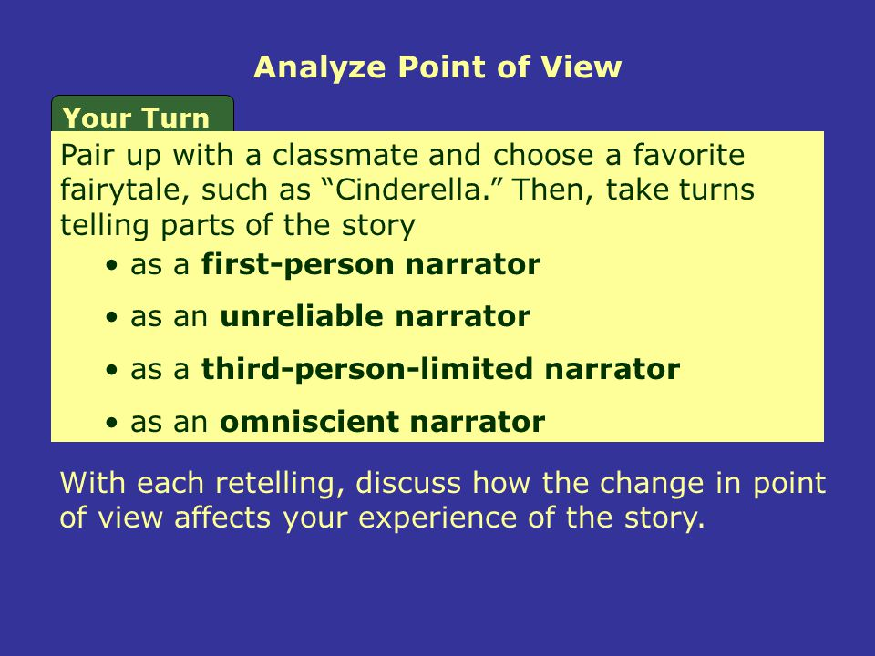 Analyze Point of View Your Turn.