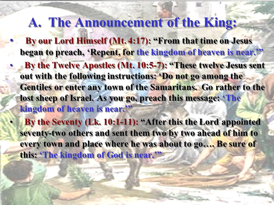 A. The Announcement of the King: