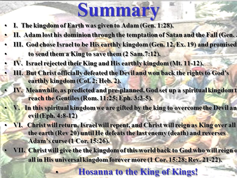 Hosanna to the King of Kings!