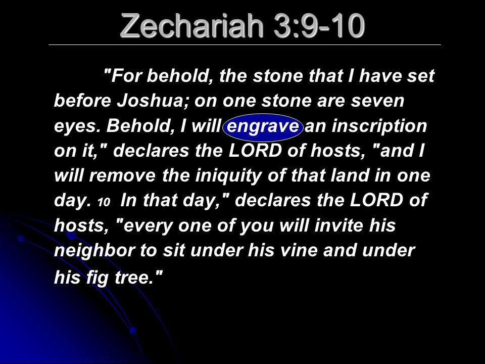 Zechariah 3:9-10