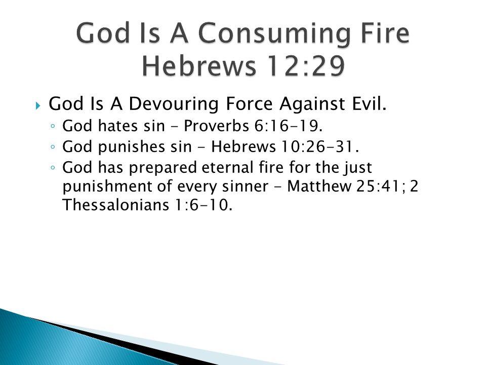 God Is A Consuming Fire Hebrews 12:29