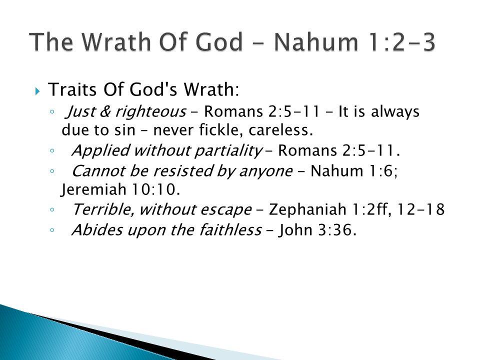 The Wrath Of God - Nahum 1:2-3