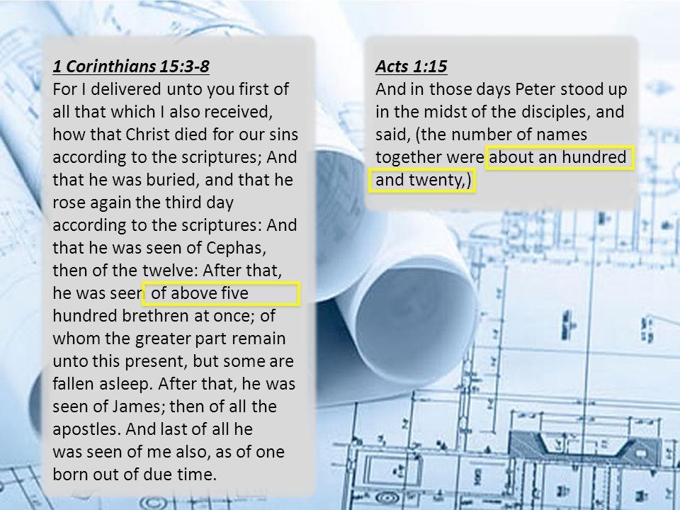 1 Corinthians 15:3-8