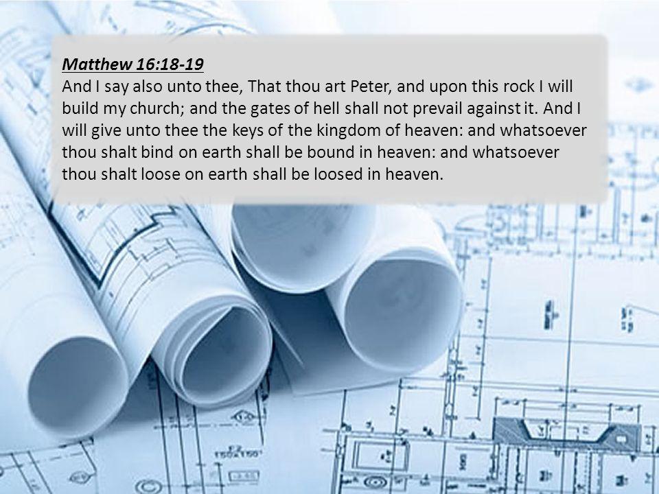 Matthew 16:18-19