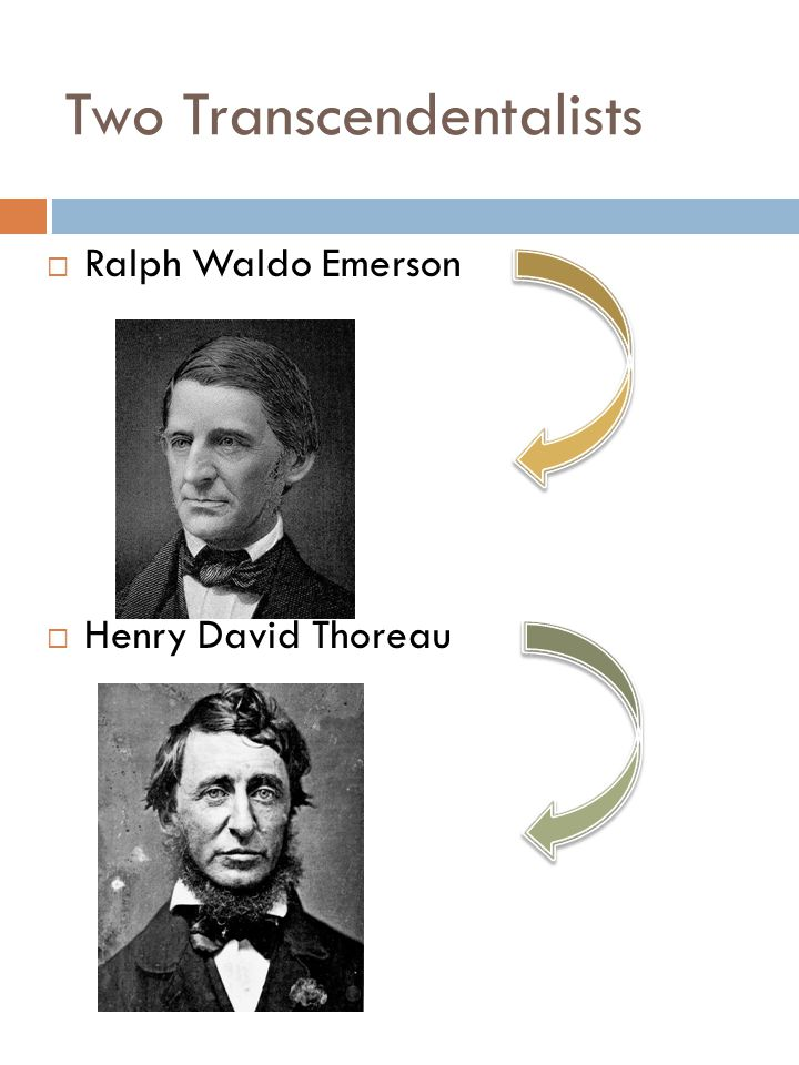 Two Transcendentalists