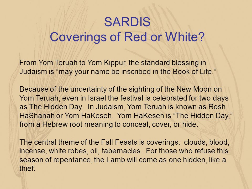 SARDIS Coverings of Red or White
