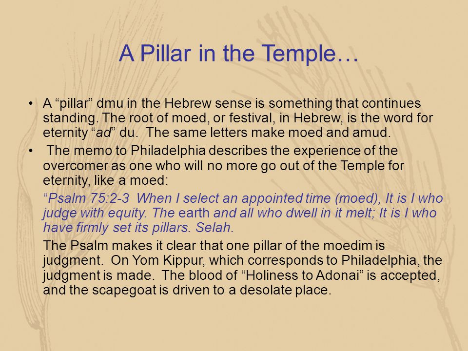 A Pillar in the Temple…