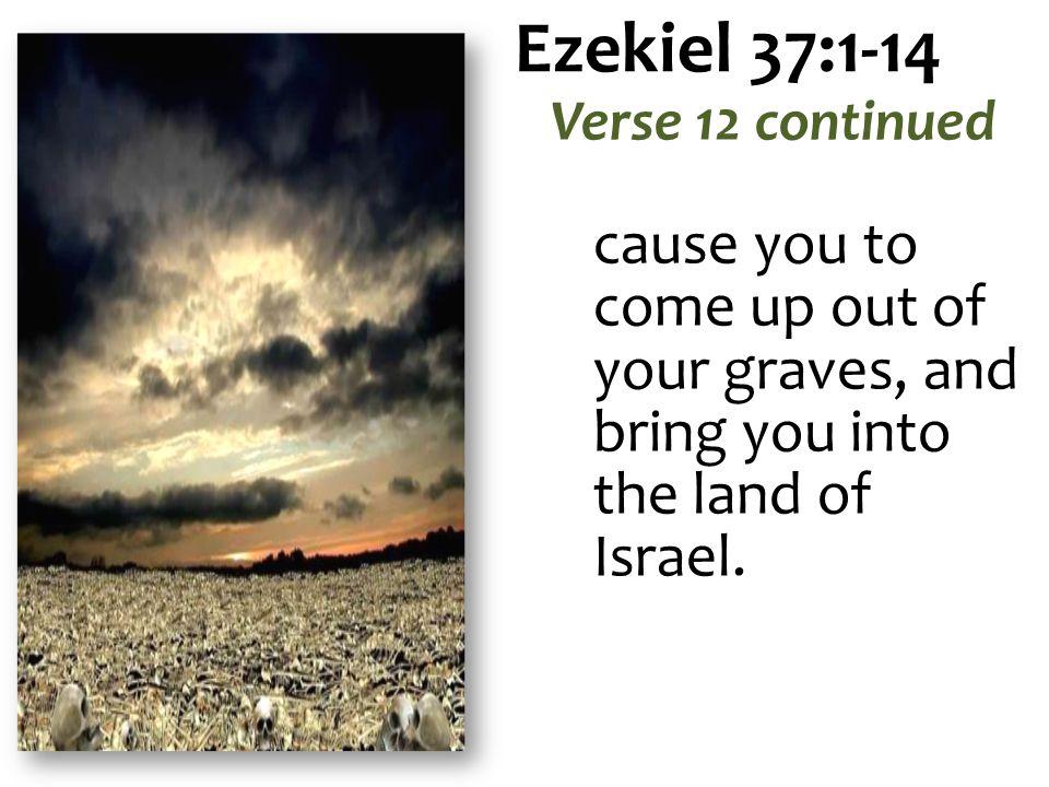 Ezekiel 37:1-14 Verse 12 continued.