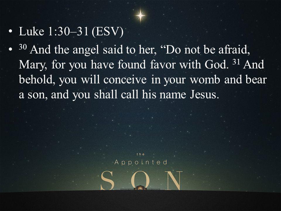 Luke 1:30–31 (ESV)