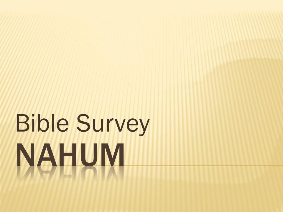 Bible Survey Nahum