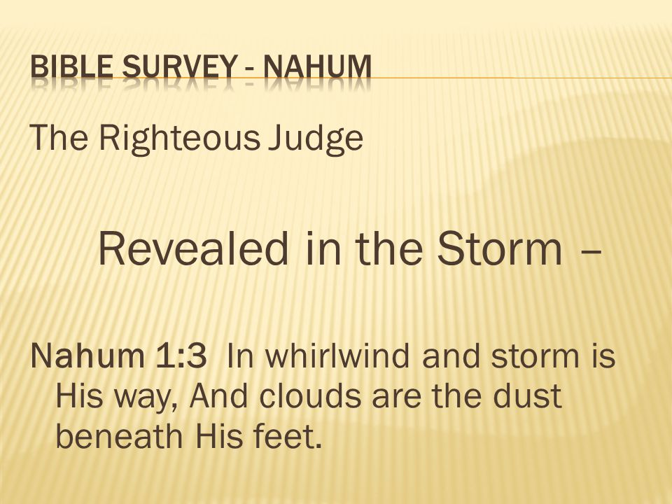 Revealed in the Storm – The Righteous Judge