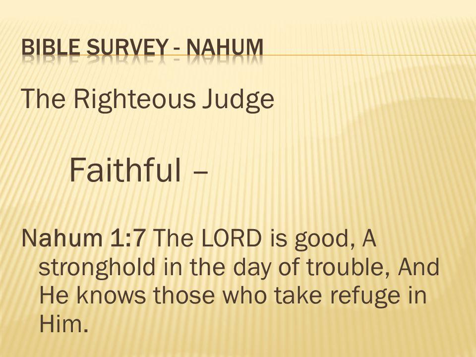 Faithful – The Righteous Judge