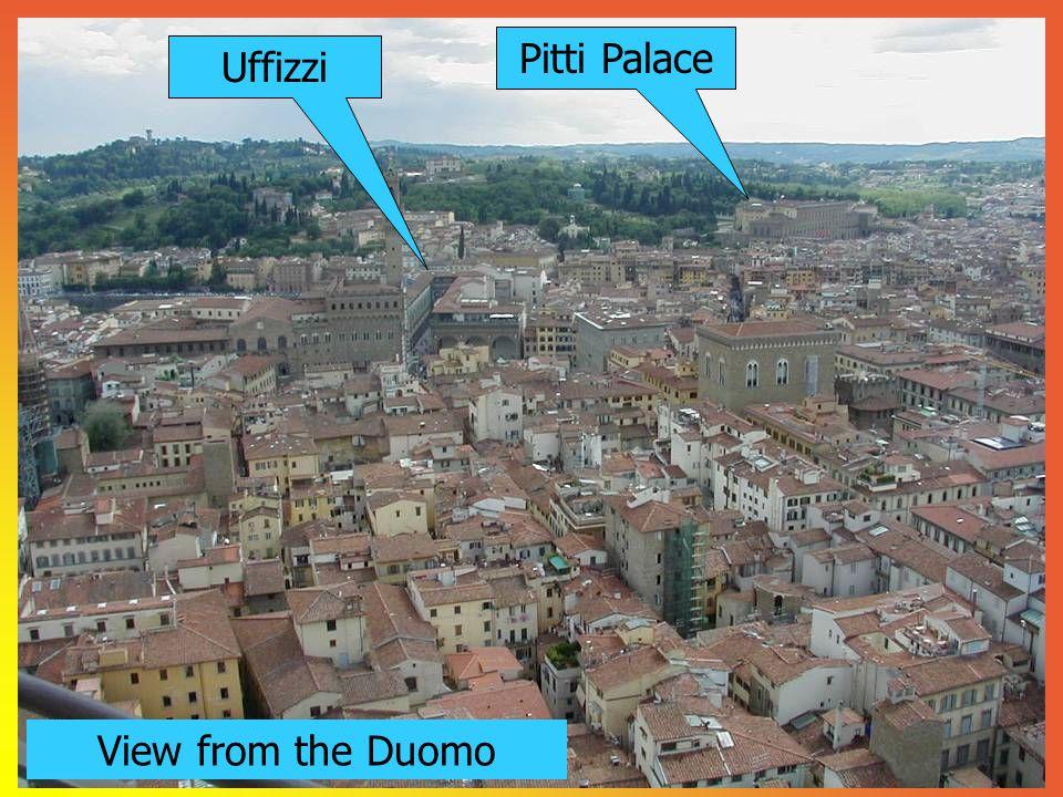 Pitti Palace Uffizzi View from the Duomo