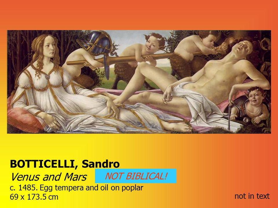 BOTTICELLI, Sandro Venus and Mars c. 1485