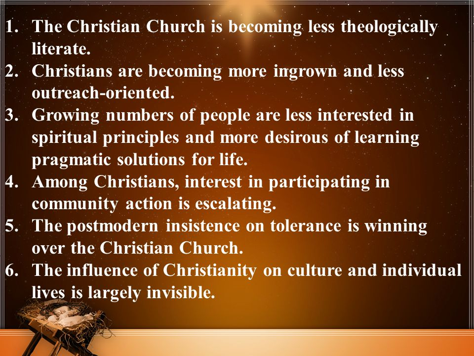 The Christian Church is becoming less theologically literate.