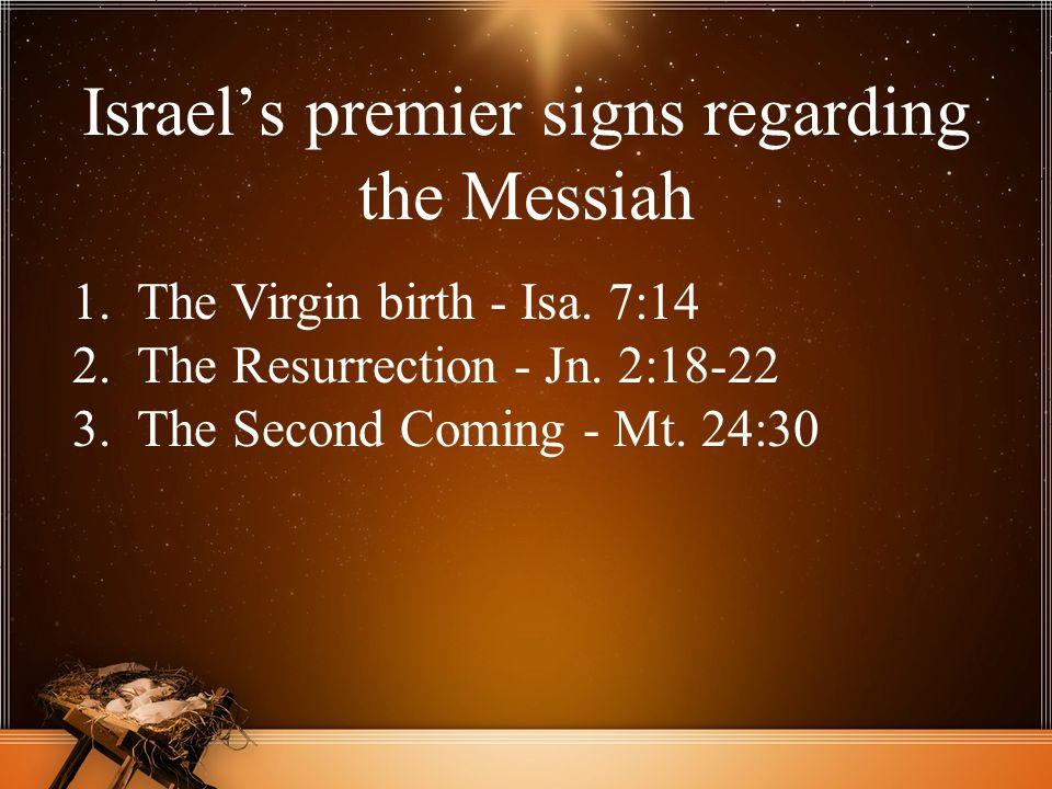 Israel's premier signs regarding the Messiah