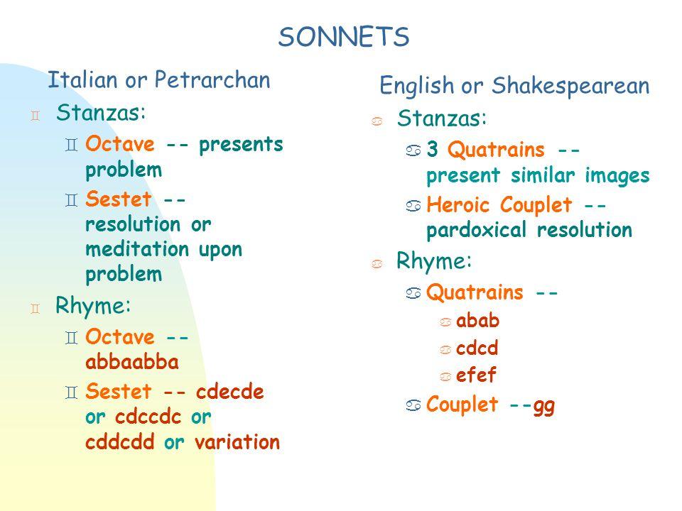 English or Shakespearean
