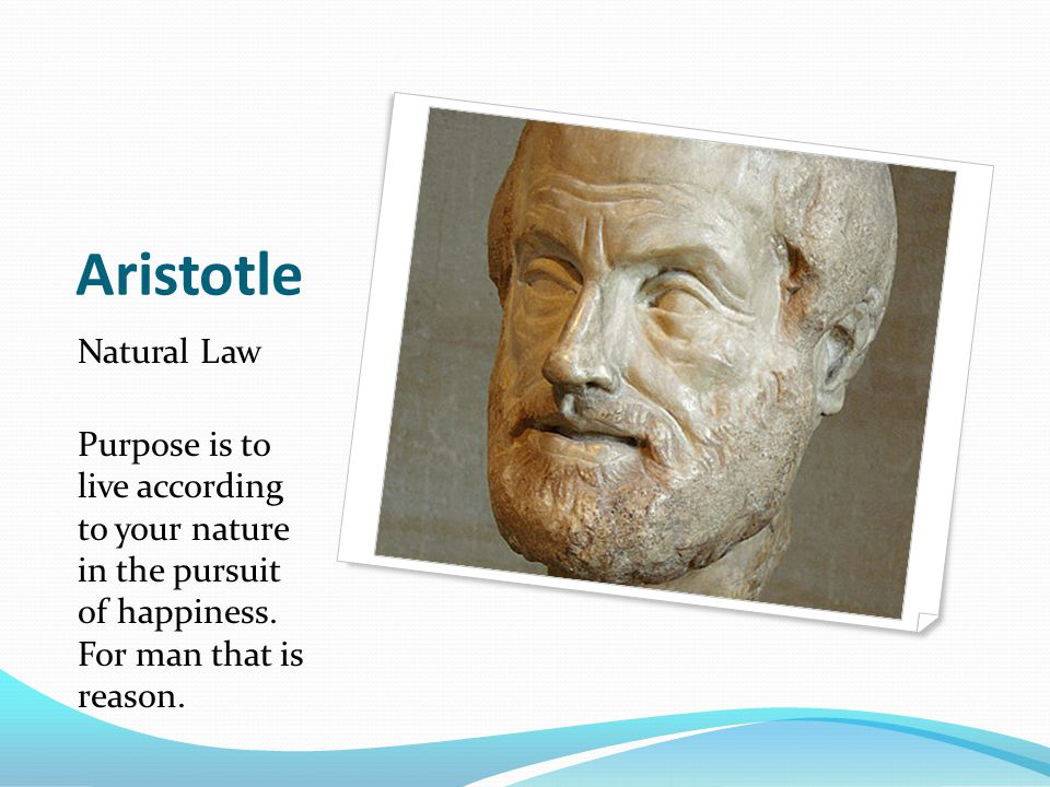 Aristotle Natural Law.