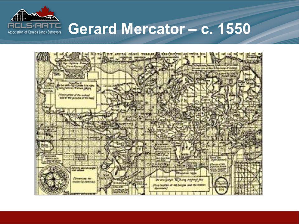 Gerard Mercator – c. 1550