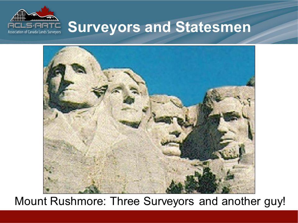Surveyors and Statesmen