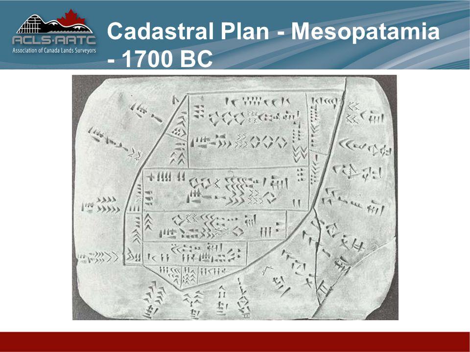 Cadastral Plan - Mesopatamia - 1700 BC