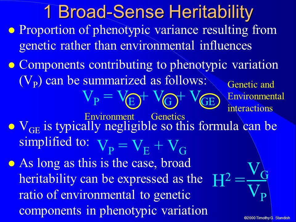1 Broad-Sense Heritability
