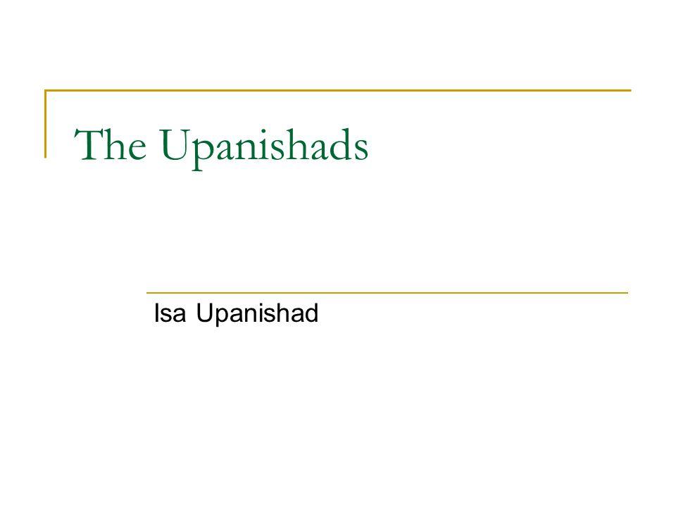 The Upanishads Isa Upanishad