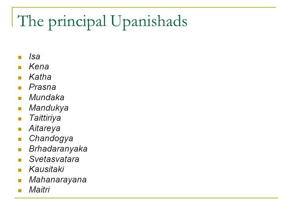 The principal Upanishads