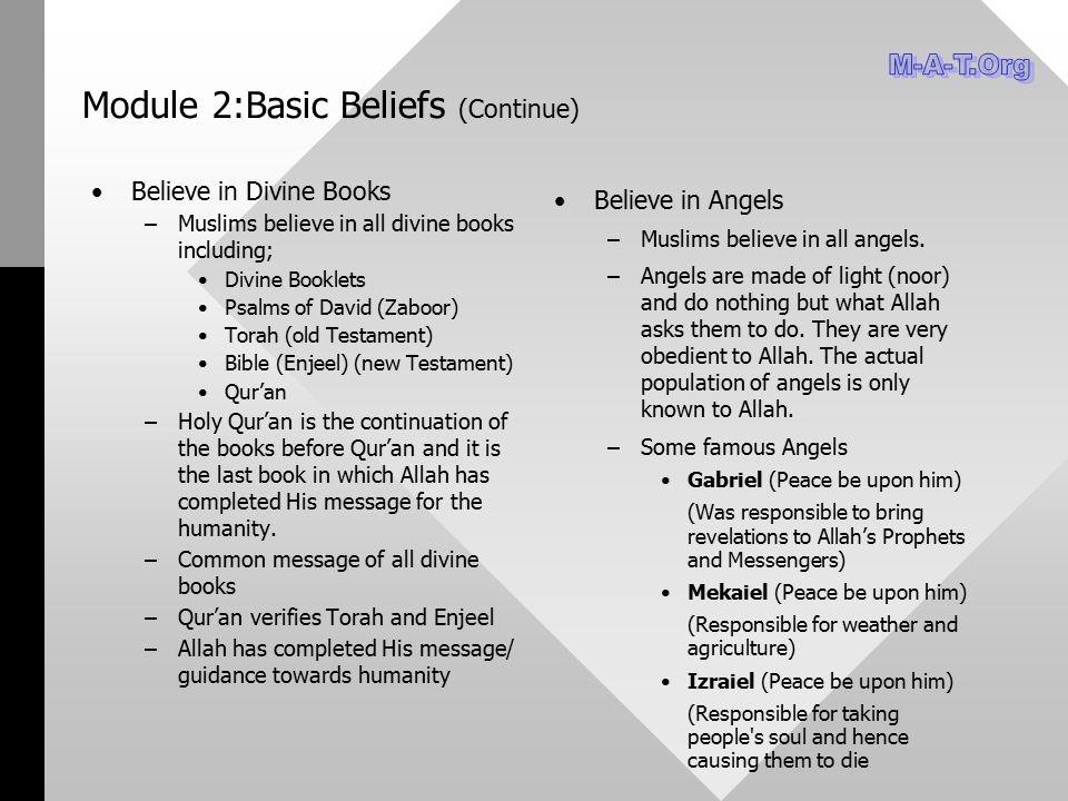 Module 2:Basic Beliefs (Continue)