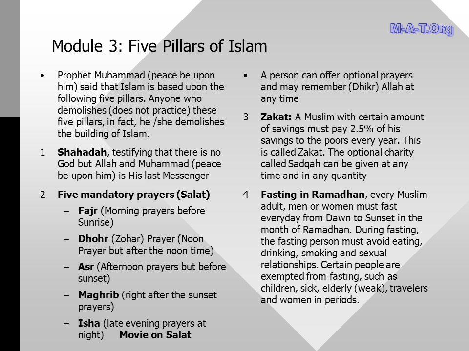 Module 3: Five Pillars of Islam