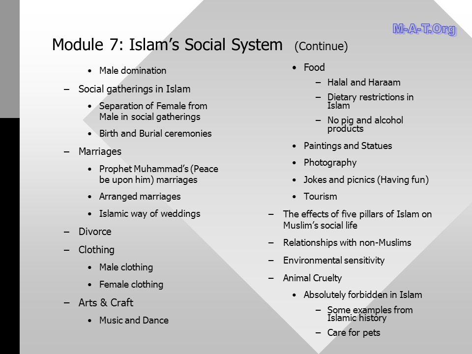 Module 7: Islam's Social System (Continue)