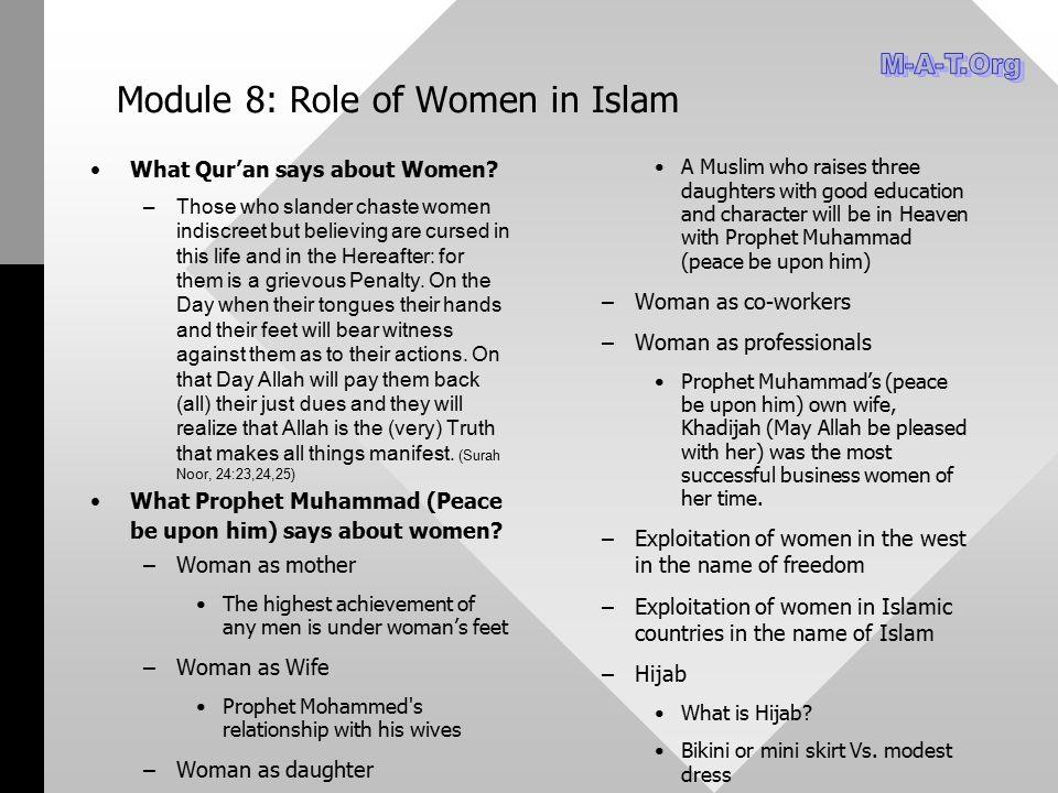 Module 8: Role of Women in Islam
