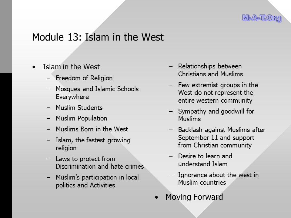 Module 13: Islam in the West