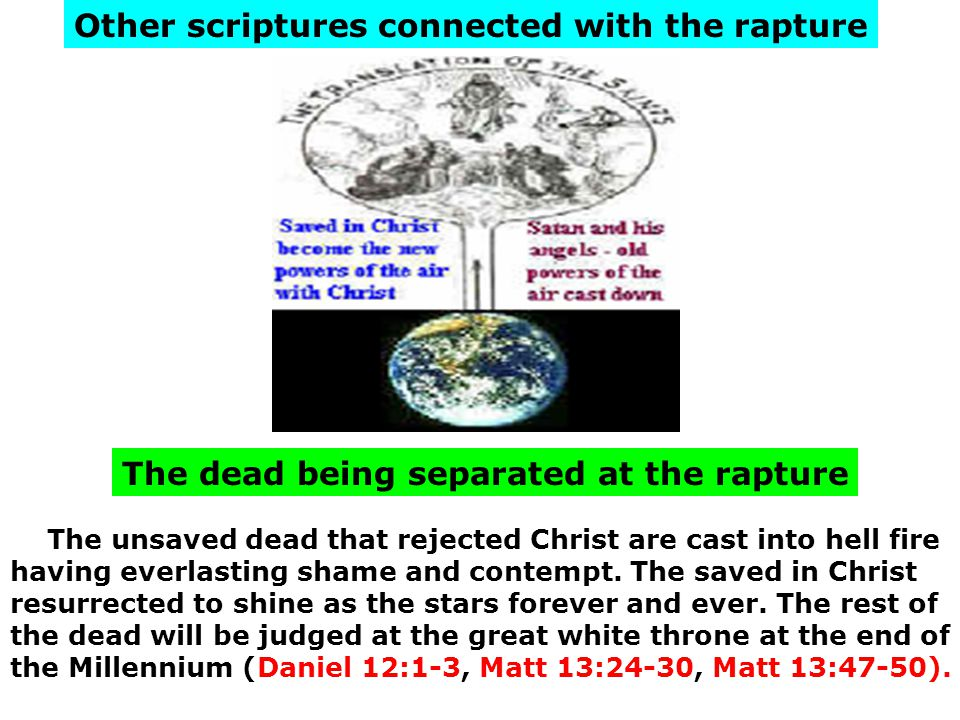 Other scriptures connected with the rapture