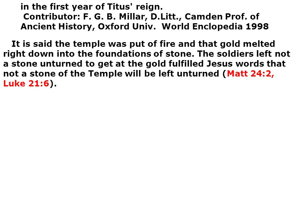 in the first year of Titus reign. Contributor: F. G. B. Millar, D