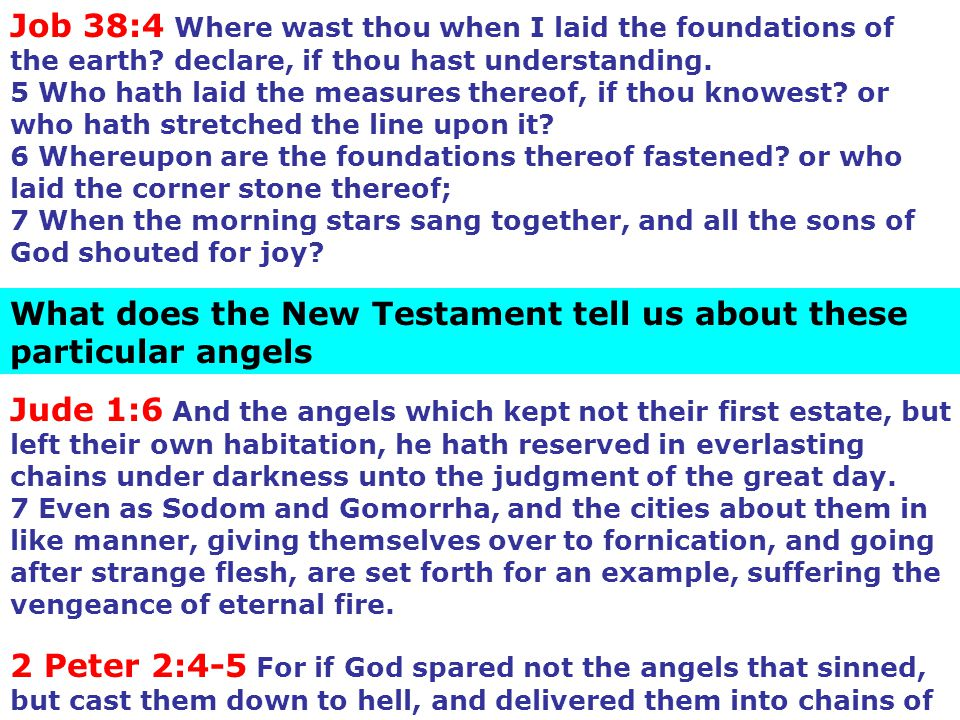 What does the New Testament tell us about these particular angels