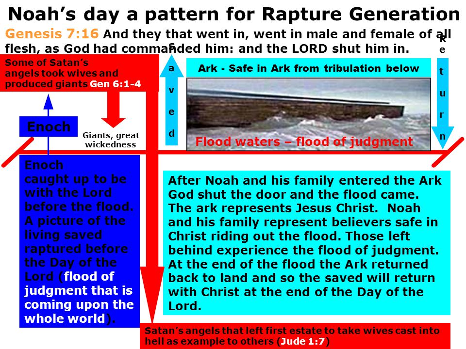 Noah's day a pattern for Rapture Generation