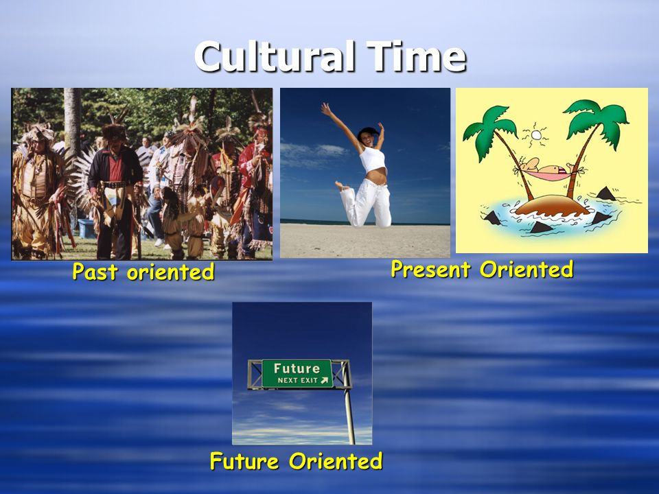 Cultural Time Present Oriented Past oriented Future Oriented