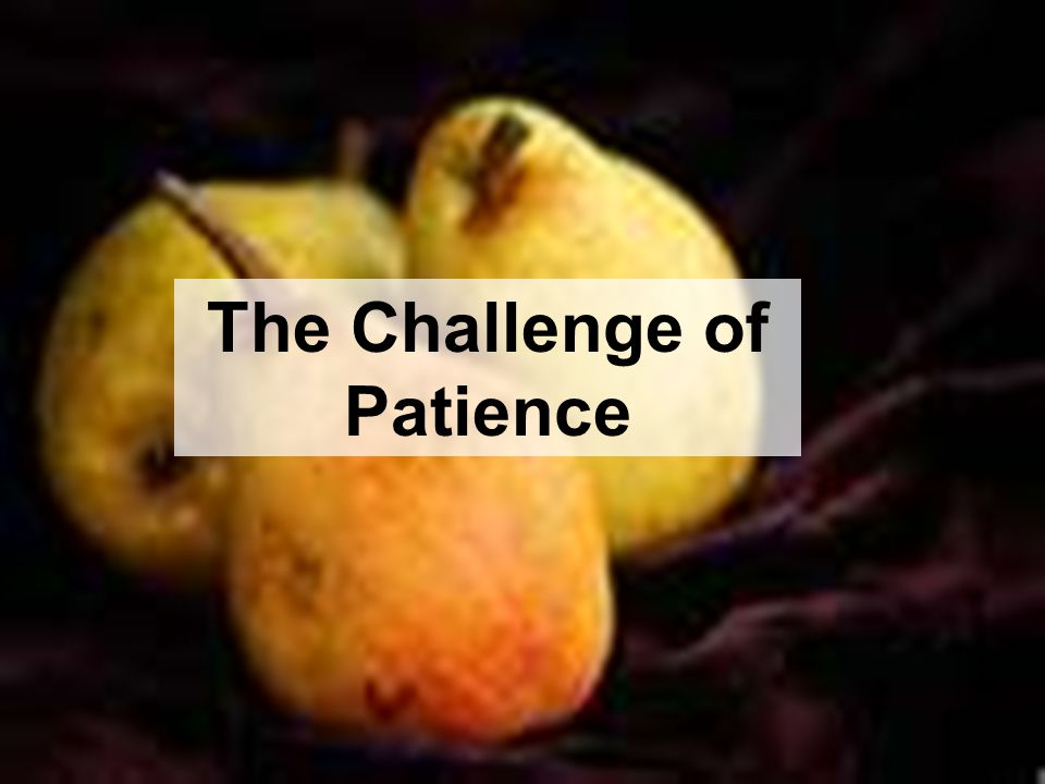 The Challenge of Patience