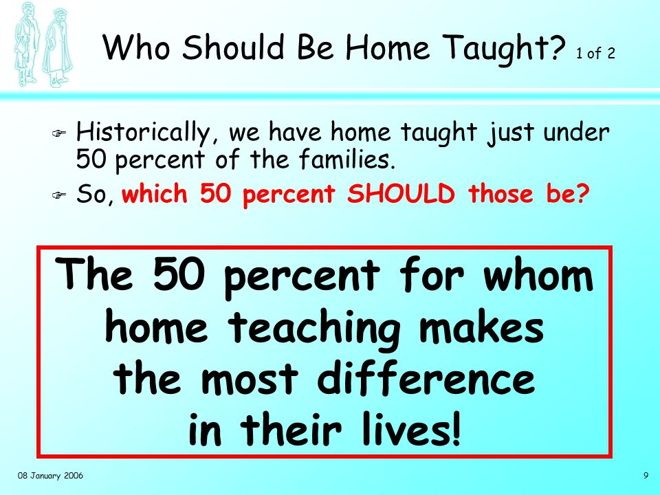 Who Should Be Home Taught 2 of 2