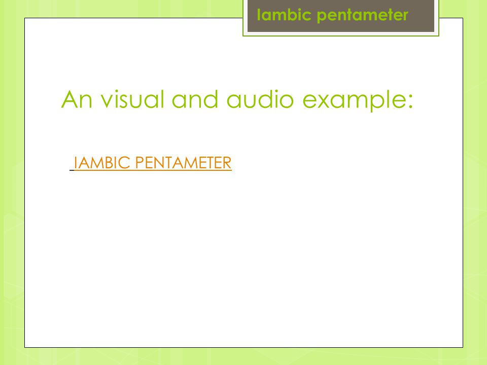 An visual and audio example: