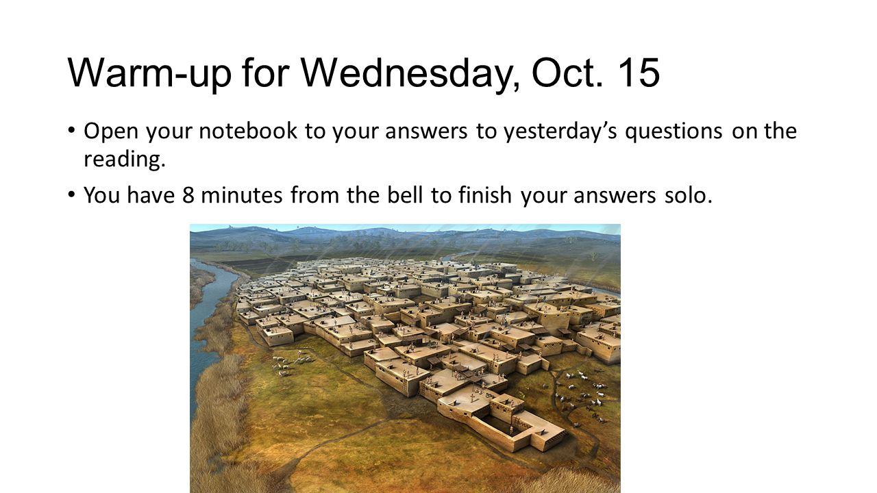 Warm-up for Wednesday, Oct. 15