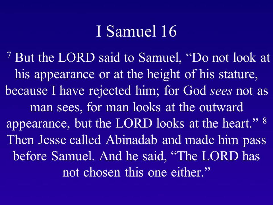 I Samuel 16