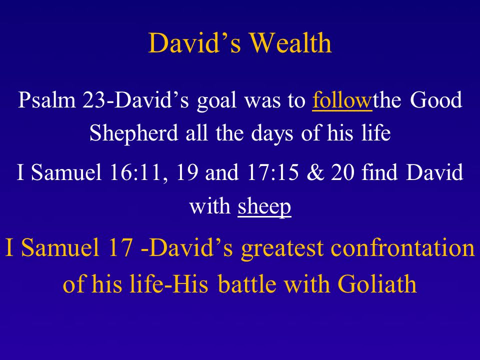I Samuel 16:11, 19 and 17:15 & 20 find David with sheep