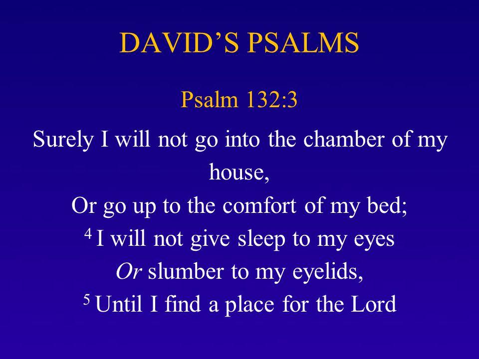 DAVID'S PSALMS Psalm 132:3.