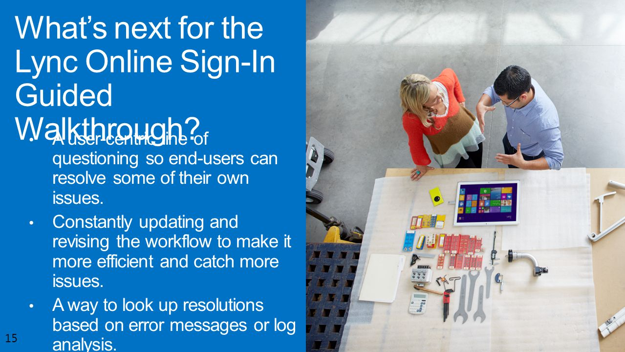What's next for the Lync Online Sign-In Guided Walkthrough
