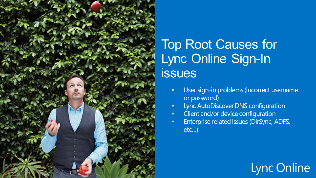 Top Root Causes for Lync Online Sign-In issues
