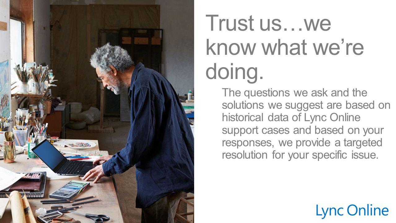 Trust us…we know what we're doing.