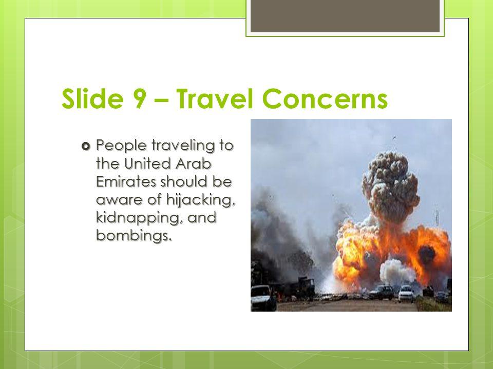 Slide 9 – Travel Concerns