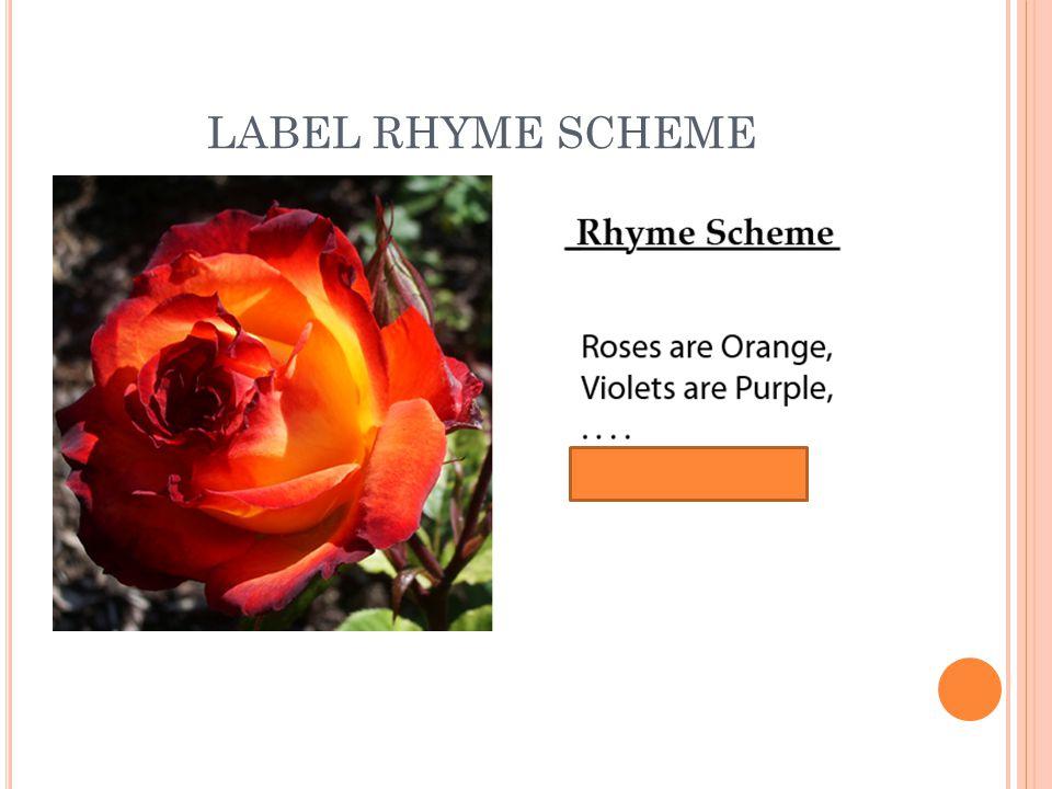 LABEL RHYME SCHEME